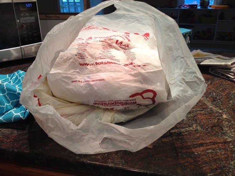coussin extérieur sacs plastiques