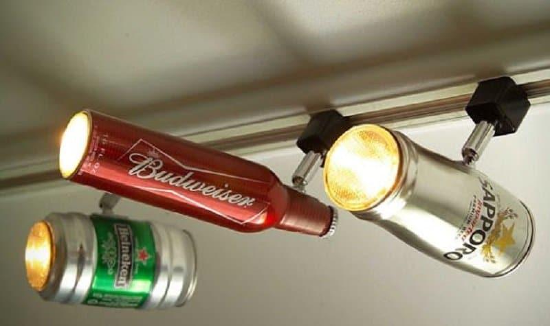 canette de bière en spot