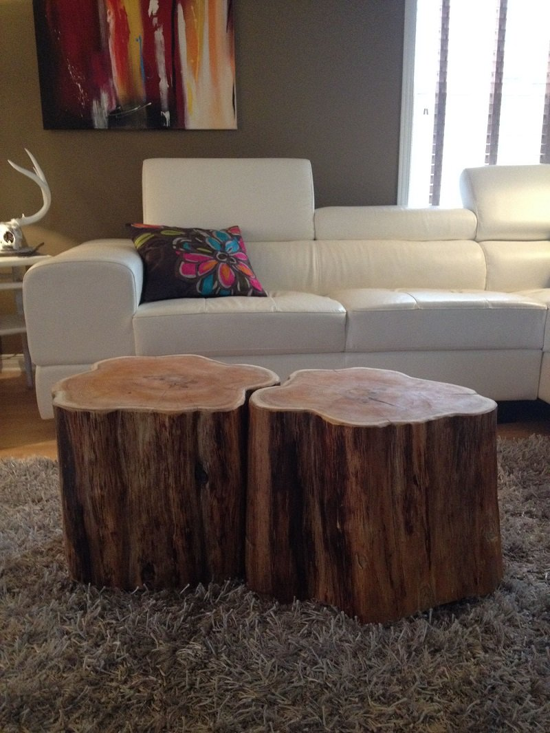 table d'appoint soucge arbre