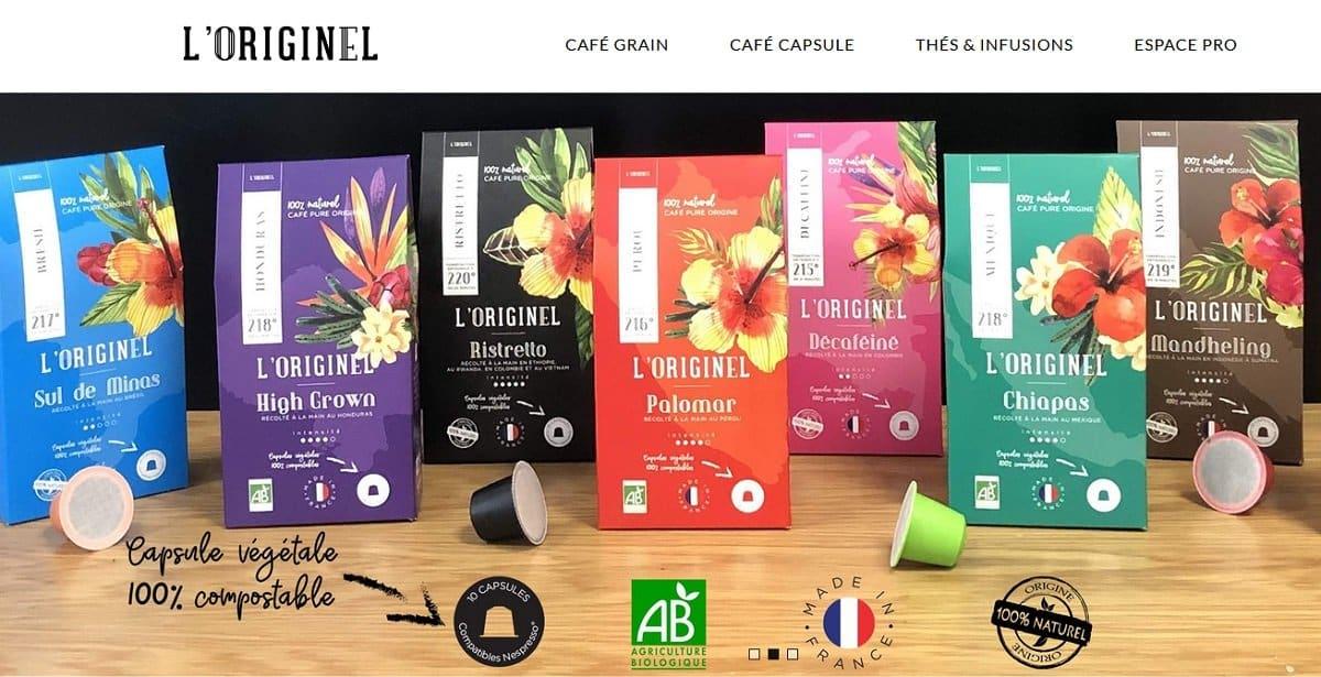 capsules café l'originel