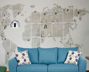 utiliser des matériaux recyclés pour recouvrir vos murs